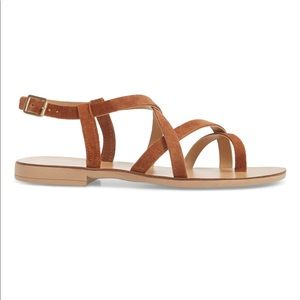 Topshop brown strappy hotstuff Sandals 7.5 38 NEW